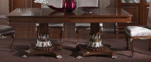 3625 TAVOLO, Tavolo rettangolare con piano intarsiato, per sala da pranzo