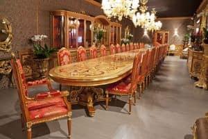 504/B, Tavolo di grandi dimensioni per ristoranti e alberghi, stile classico