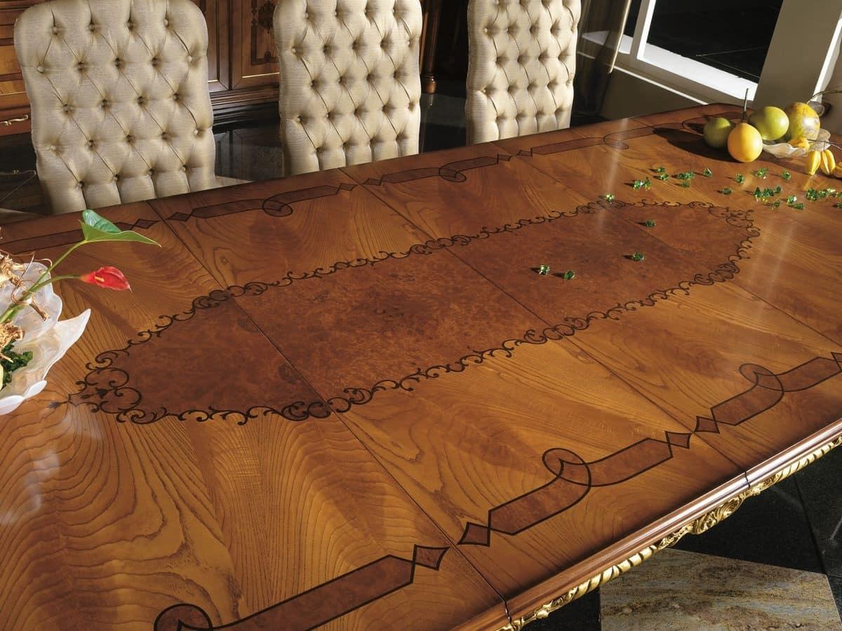 Tavolo rettangolare per la sale da pranzo classiche ...