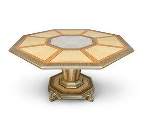 AGNES / tavolo, Lussuoso tavolo con piano ottagonale