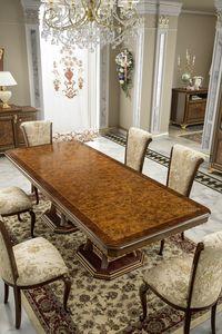 Aida tavolo, Elegante tavolo con piano in radica