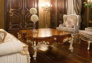 Art. 1054, Tavolino di lusso, con piano in ulivo, stile classico