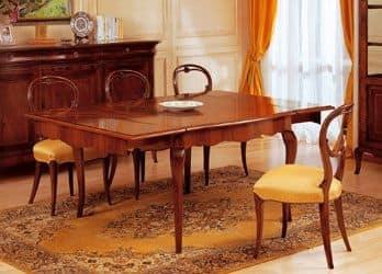 Art. 903 tavolo '800 Francese, Tavoli classici legno lavorato, allungabile