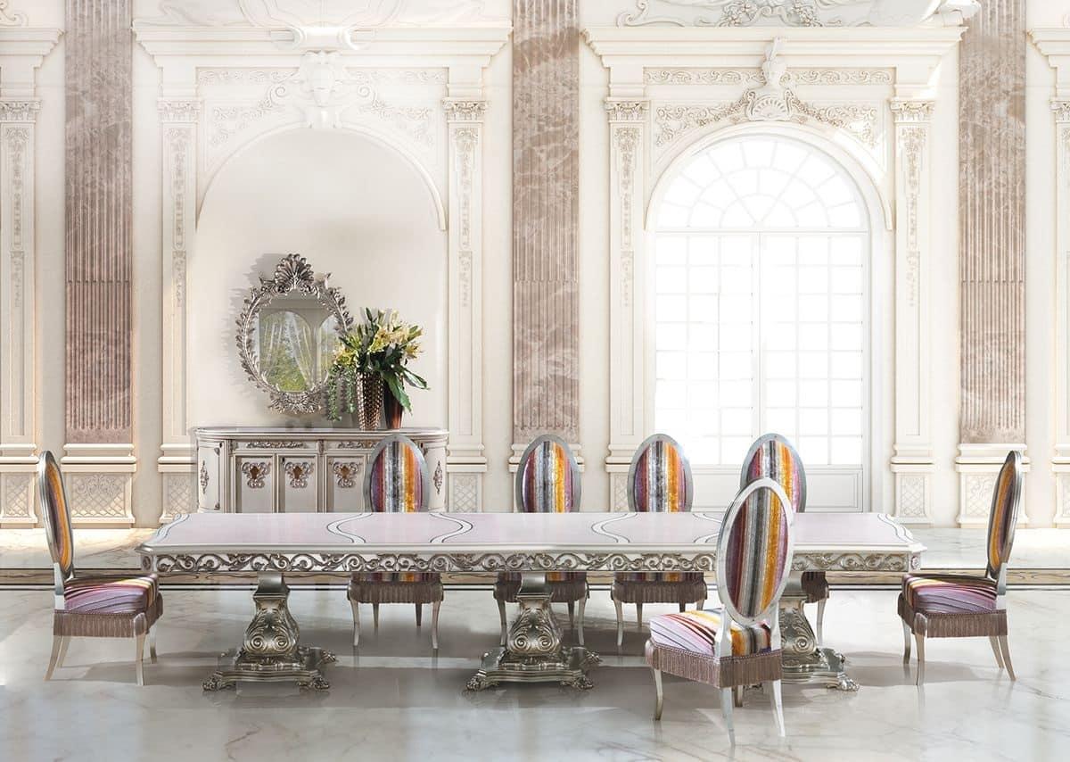 Tavoli Eleganti Sala Da Pranzo tavolo rettangolare lungo per sala da pranzo classica