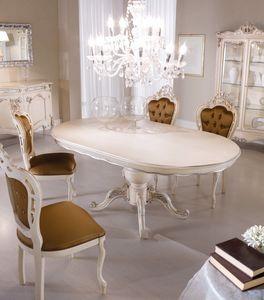 Chippendale tavolo ovale laccato, Tavolo da pranzo ovale