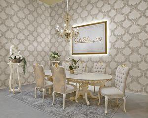Diamante Art. 2622, Tavolo stile classico, piano ovale