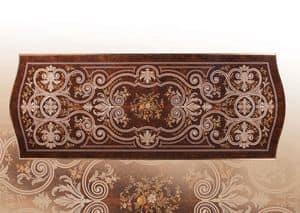 F972, Tavolo di lusso intarsiato artigianalmente, per ville
