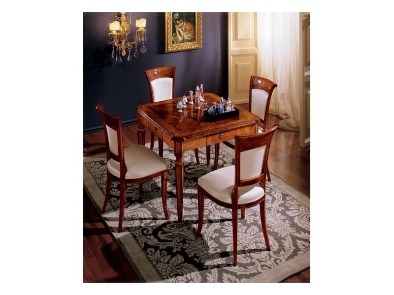 Maggiolini tavolo 799, Tavolo quadrato classico di lusso