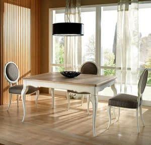 R 302, Tavolo rettangolare, allungabile, laccato, classico