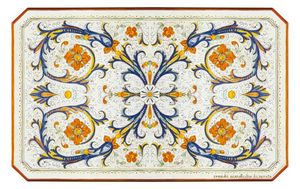 Ricco Deruta Pieno, Tavolo con decorazione classica