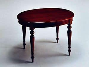 Scott, Tavolo allungabile, in stile classico di lusso, ovale