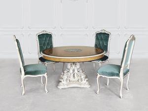 Tavolo 1425, Tavolo classico di lusso con base madreperla
