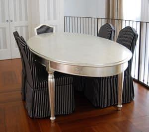 TAVOLO ART. TL 0014, Tavolo ovale con gambe tornite, lucidato con pietra d'agata