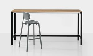 Be-Easy slatted bar table, Tavolo alto, con piano in teak
