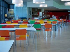 Ernesto Ice Restaurant, Tavoli quadrati, personalizzabili al millimetro, adatti per mense e aree comuni