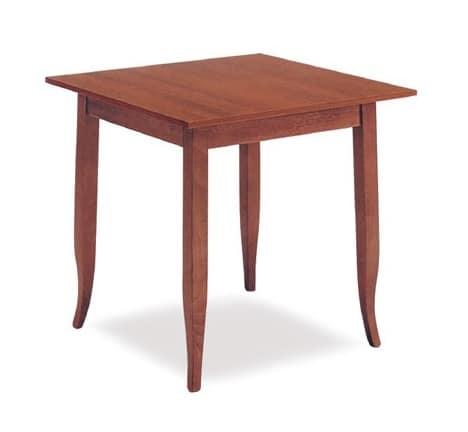 FT 600, Tavolo classico in legno, per albergo e ristorante