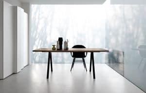 Neat, Tavolo design con gambe in alluminio, robusto e sottile