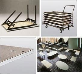 Slimfold STB.15, Tavoli polifunzionale pieghevole per catering e party