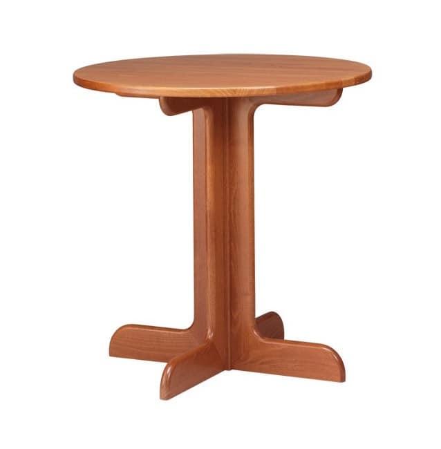 TV02, Tavolo in legno di faggio, in arte povera, per circoli