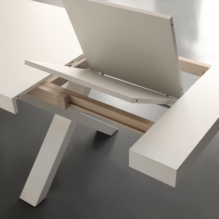 Art. 703 Galileo, Tavolo allungabile in legno nobilitato, per cucina