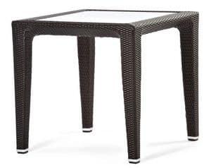 Altea tavolo 2, Tavolo in plastica intrecciata, per giardino e terrazza