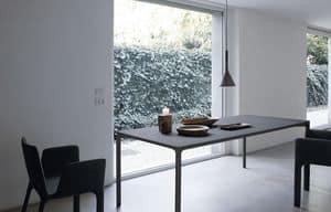 Boiacca rectangular, Tavolo rettangolare fatto in cemento, per esterni