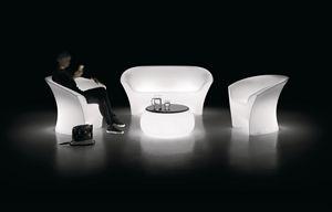 LT TABLE, Tavolo tondo luminoso da esterno