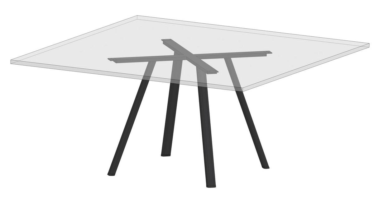 Surfy Hub 2027 - Outdoor 2027 square, Tavolo quadrato anche per esterni