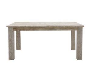 White Sand 6401, Tavolo rettangolare in teak sbiancato