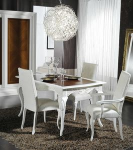 Art. 101, Elegante tavolo da pranzo in stile classico