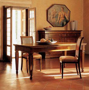 Ca' Venier Art. CV09/A, Tavolo da pranzo classico, in noce massello