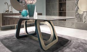 Loop Art. 302-RV2G, Tavolo con piano in gres porcellanato