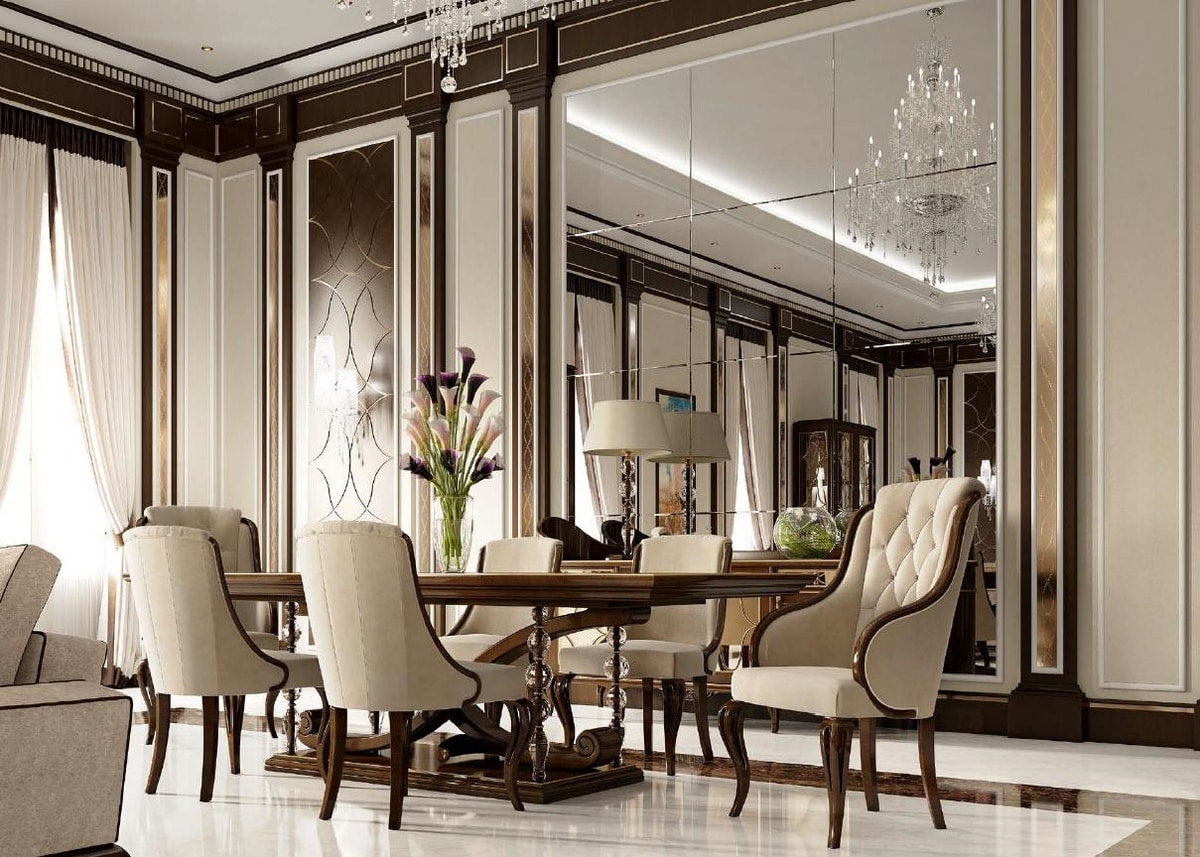 Tavoli Eleganti Sala Da Pranzo tavolo in legno per eleganti sale da pranzo | idfdesign