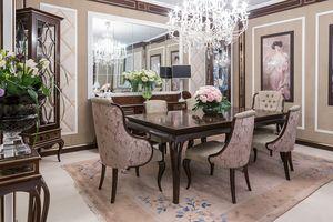 New York tavolo, Tavolo in legno per eleganti sale da pranzo