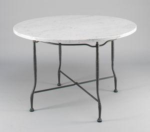 INTRECCIO GF4004TA-D90, Tavolo da esterno con piano tondo in marmo