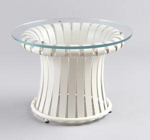 MOLLE GF4001CT-S, Tavolo in ferro con piano in vetro, per esterni