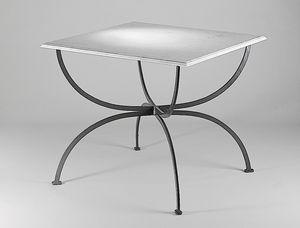 PIAZZA GF4009TA, Tavolo quadrato per esterno con piano in marmo