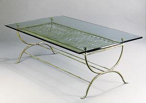 ROMBI GF4002CT, Tavolo rettangolare in ottone da esterni