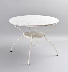 ROMBI GF4002TA-RO, Tavolino da esterno con piano in marmo