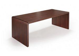 Frank, Tavolo rettangolare, in legno di palissandro
