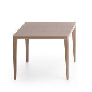 London 5001, Tavolo quadrato in legno massiccio