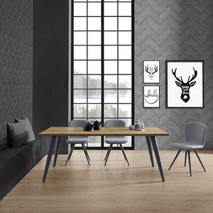 Prosit-U, Tavolo con basamento in legno semplice ma resistente