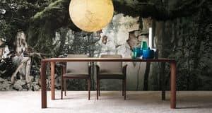 Sintesi, Tavolo allungabile in legno, per sala da pranzo