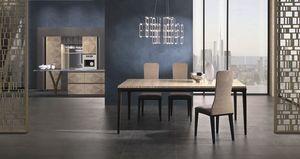 TA66 Square tavolo, Tavolo rettangolare in legno
