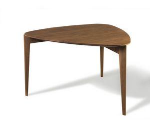 Trident 5712/F, Tavolo in legno con piano triangolare
