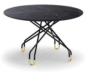 Archimede, Tavolo con piano ovale