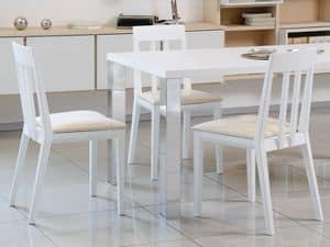 Complementi Tavoli e Consolle 15, Tavolo semplice in legno e metallo, per salotti moderni