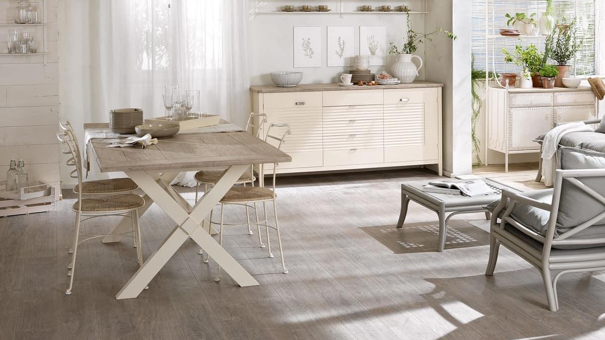 Tavoli Eleganti Sala Da Pranzo tavolo in legno laccato con pennello, per sala da pranzo