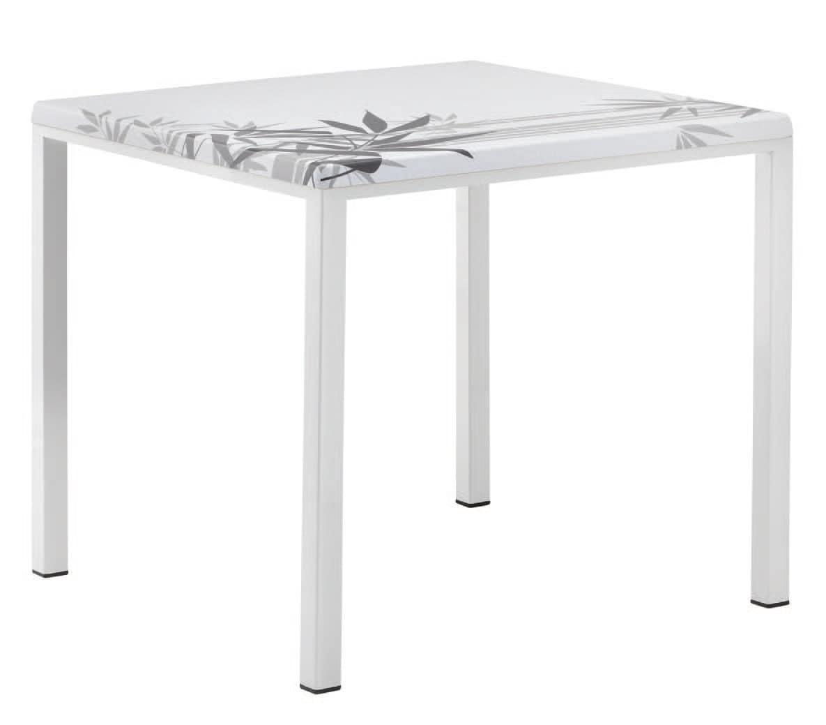 FT 044 quadrato, Tavolo base in metallo verniciato ideale per bar