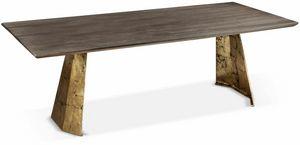 Icaro tavolo, Tavolo rettangolare con base in ferro